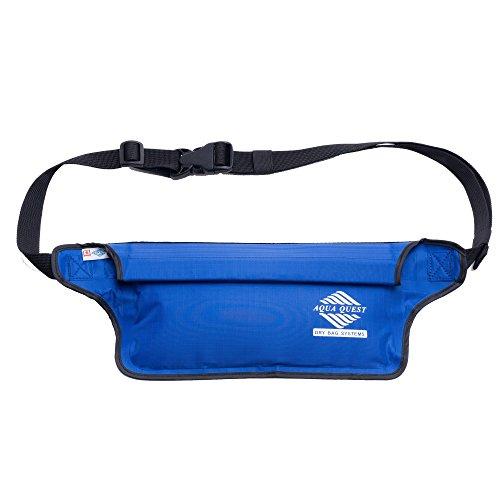 Aqua Quest AQUAROO Blue Waterproof Running Belt Hidden Wallet for Boating, Kayaking, Biking, Jogging