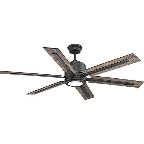 Progress Lighting P2586-7130K Protruding Mount, 6 Toasted Oak/Driftwood Blades Ceiling Fan with 18...