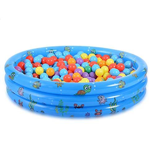 Aeadad Kiddie Piscina hinchable Ocean Ball Pool Verdickter Langlebiger, segura, blanda suelo para Indoor-Babykinder Sommerwasserparty-Versorgung para bebés bebés bebés, 150 cm