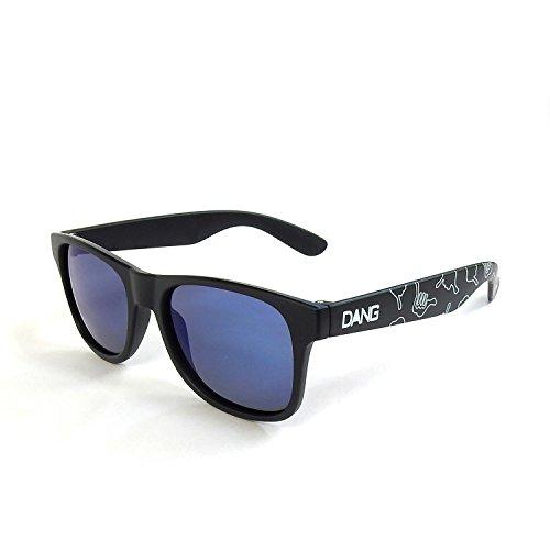 ダン・シェイディーズ ロコ LOCO Black Matte X Blue Mirror Polarized with HANG LOOSE Polarized DANGSHA...
