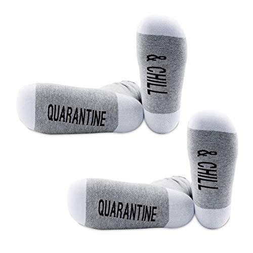 PYOUL - Set di 2 paia di calzini autoisolanti per quarantena e freddo, idea regalo Quarantena e raffreddamento M