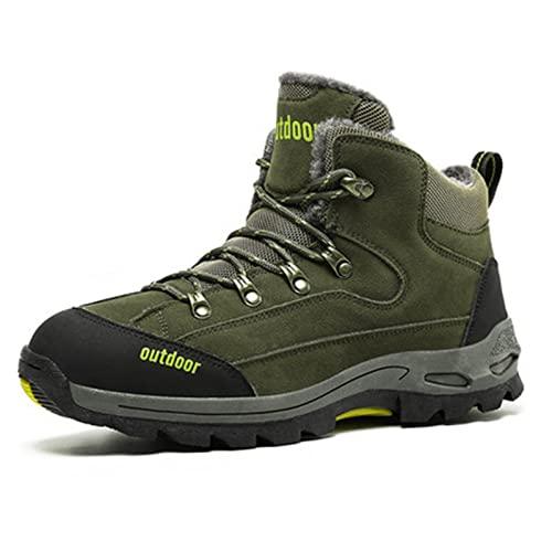 Calzado,Mujeres Zapatillas Senderismo Hombre Botas de montaña Impermeable Transpirable Sneakers Antideslizantes Botas de Media caña Talla Grande Espesar Botas de Montaña Invierno cálido