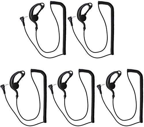 abcGoodefg G Shape Earhook 2 5mm Listen Only Earpiece Headset Earphone Compatible for Baofeng product image