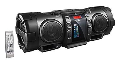 JVC RV-NB100B Bluetooth Portable CD Boomblaster with Lightning Dock and DAB by JVC