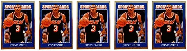 (5) 1992 Sports Cards #62 Steve Smith Basketball Card Lot Miami Heat