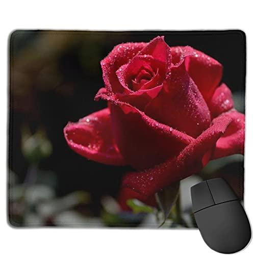 Alfombrilla de ratón para juegos de rosa, alfombrilla de ratón rectangular personalizada, goma antideslizante impresa cómoda almohadilla de ratón para computadora