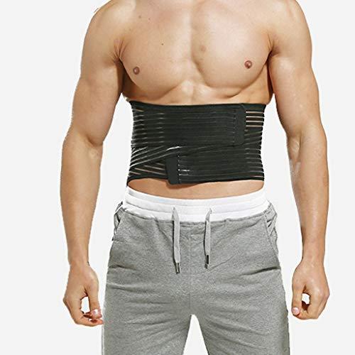 LSRRYD Cinturón transpirable doble tira lumbar soporte para alivio de espalda, disco lumbar fijo, ciática, estenosis espinal para hombres y mujeres (tamaño: grande)