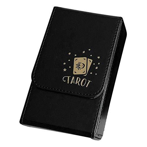 POHOVE Doppelschichtiges PU-Leder-Tarot Flip Cover Box Deck Case 80 Karten, Tarot-Aufbewahrung Organizer