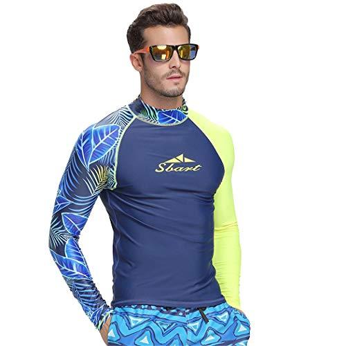 SANANG Herren Langarm Rashguard Shirt Schnorcheln Schwimmen Surfen Tops Tauchen Anzug UV Schutz Beach T-Shirt