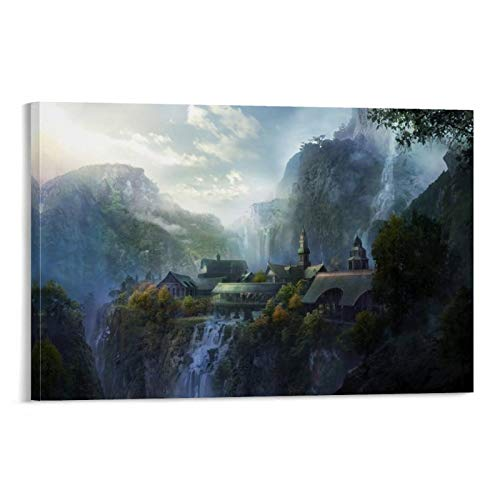 NUOMANAN The Lord of The Rings The Lord of The Rings Expedition's Fantasy Adventure Canvas Print Wall Art 08x12inch(20x30cm) Canvas Prints Paintings Art for Living Room Wall Unframed/Frameable