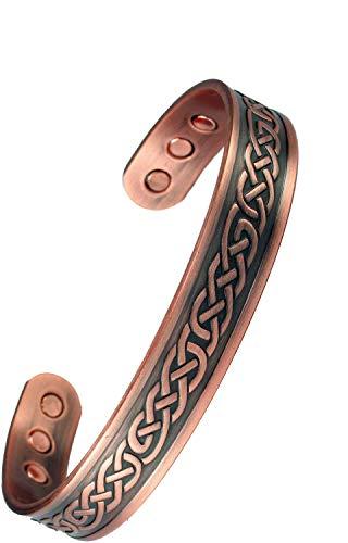 MPS® Reinem Kupfer Magnetarmband, COOPRAA magnetische armband armreif stil, mit 6 Magneten, mit gratis Geschenk geldbörse, Vale Mittel