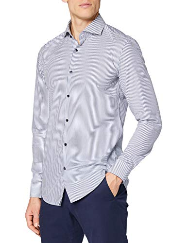 HUGO Kason 10231478 01 Camisa, Navy413, 48 para Hombre