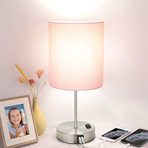 Touch Control Table Lamp 3 Way Dimmable Modern USB Desk Lamp with 2 Fast Charging Ports and product image