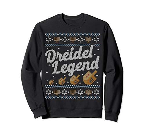 Funny Ugly Hanukkah Sweater Dreidel Legend Gift Sweatshirt