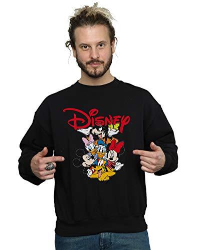 Disney Herren Mickey Mouse Crew Sweatshirt Schwarz XXXX-Large