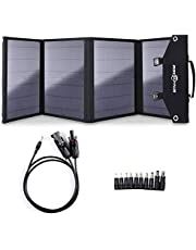 ROCKPALS SP003 100W Foldable Solar Panel for Jackery Explorer/Flashfish/BALDR/Goal Zero Portable Power Station Generator and USB Devices, Portable Solar Panel Charger with 3 USB Ports