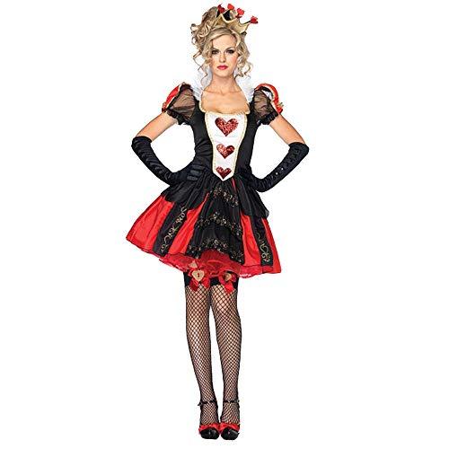BaronHong Crossdress Mens Red Hearts Dress Drag Queens Party Funny Comedy Costume (Nero, 2XL)