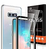 4-Pack MP-MALL 2 Pack Tempered Glass Screen Protector + 2 Pack Camera Lens Protector Compatible for Samsung Galaxy S10e, Not Fit for Galaxy S10 or S10 Plus, Installation Frame 9H Hardness