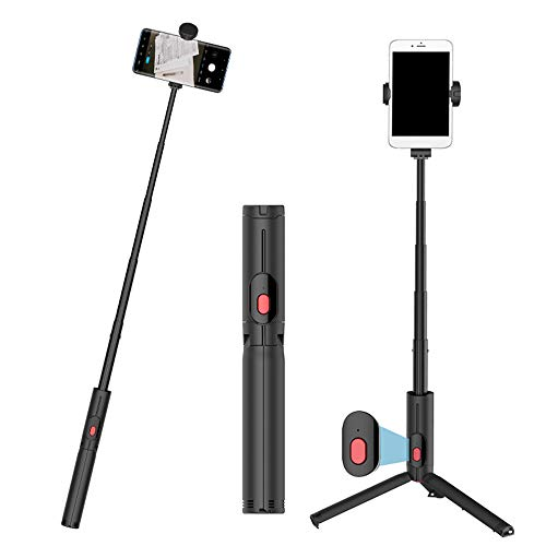 Anyutai Monopié con Bluetooth, ampliable, monopod Bluetooth, selfie stick mini portátil, universal para teléfono móvil, controlador Bluetooth 4.0