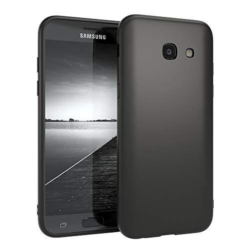 EAZY CASE Handyhülle Silikon mit Kameraschutz kompatibel mit Samsung Galaxy A5 (2017) in schwarz matt, Ultra dünn, Slimcover, Silikonhülle, Hülle, Softcase, Backcover