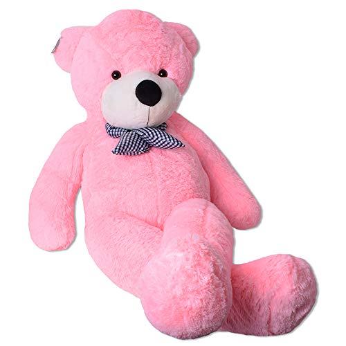 TE-Trend Rosa Riesen Plüsch Teddybär XXL Großer Teddy Bär Kuschelbär Kuscheltier Schleife 150 cm Plüschbär Pink