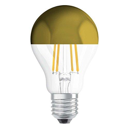 Osram LED Retrofit Classic A Mirror Lampe, Sockel: E27, Warm White, 2700 K, 7 W, Ersatz für 54-W-Glühbirne