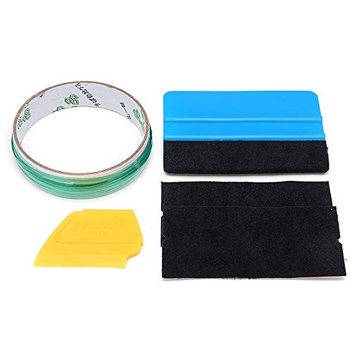ExcLent 5Pcs 5M Finish Cutting Line Knifeless Tape With Squeegee Graphic Vinyl Trim Wrap Tools