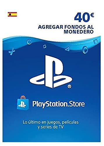 Sony, PlayStation - Tarjeta Prepago PSN 40€ | PS5 PS4 PS3 | Código de descarga PSN - Cuenta española