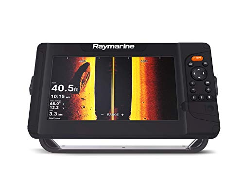 New Raymarine Element 9 HV with HV-100 Transducer and Navionics+ US and Canada Charts, Black, 9 wit...