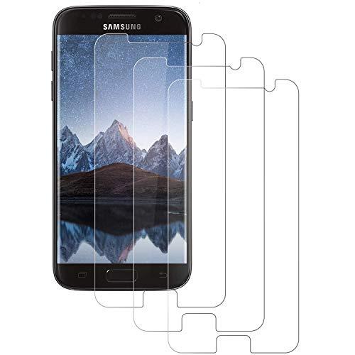 DOSMUNG Panzerglas Schutzfolie für Samsung Galaxy S7, [3 Pack] 2.5D Runde Kante Panzerglasfolie für Galaxy S7, Ultra-klar, Anti-Kratzen, Anti-Öl, Hülle Freundllich, Displayschutzfolie für S7