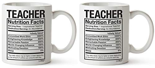 2pcs Teacher Appreciation Mugs