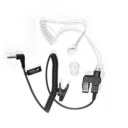 HYS Ohrhörer Schallschlauch 2,5 mm transparent inkl. Halteclip höre nur zu In-Ear Kopfhörer Security Headset Kompatibel mit 2,5 mm Funkgerät