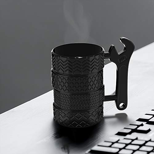 Product Image 8: MISHOWNET Tire Coffee Tea Mug Gift for Car Lovers Mechanics Car Enthusiasts Christmas Gifts for Man Birthday Gift