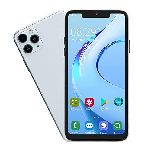 Goshyda Teléfono móvil, Pantalla Bang de 6.5in 1 + 16G Teléfono móvil portátil de Doble Tarjeta con Doble Modo de Espera con Auricular para Android 5.1(EU)