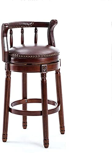 WWJ Bar Stool, Solid Wood Material, Retro Home, Suitable for Dining Table, Living Room, Front seat 42cm, 2 Colors Dining Chair (Color : Brown)
