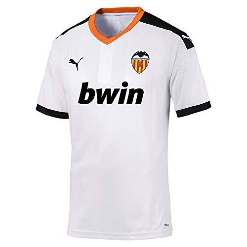 Puma Valencia CF Pro Primera Equipación 2019-2020, Camiseta, Puma White-Puma Black-Vibrant Orange, Talla L