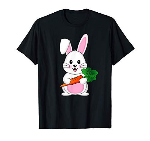 イースターバニー卵にんじんコスチューム男の子女の子 Easter bunny egg Tシャツ