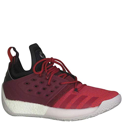 adidas Men's Harden Vol 2 Basketball Shoe Red/White Size 8 M US
