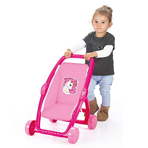 SOKA Unicorn Pink Stroller Buggy Childrens Baby Doll Pram Pushchair Toy Great For Girls & Boys Aged 18 Months +