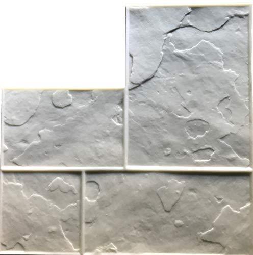 GlobMarble Concrete Ashlar Slate Pattern Stamps SM 3100/F. Floppy mat 28 x 28 inches