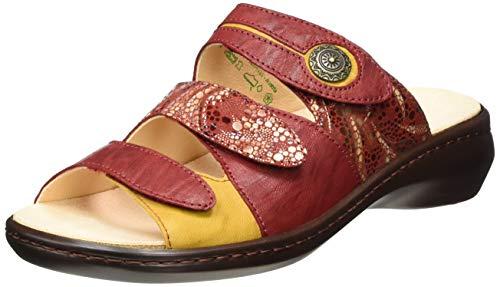 THINK! Damen CAMILLA_3-000078 nachhaltige Wechselfußbett Pantolette, 5000 Cherry/Kombi