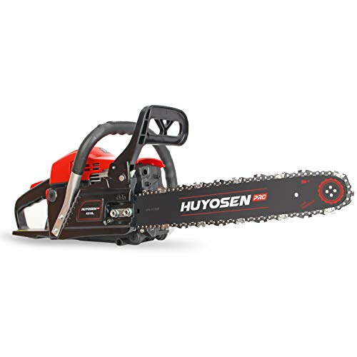 HUYOSEN PRO Professional Gas Chainsaws 42cc 2-Stroke Gas Powered Chain Saw 16-Inch Chainsaw Chain with Tool Kit for Cutting Forest Wood Garden Trimming Tools