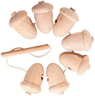 Wooden lacing toy Unfinished Acorns, Educational toy, Motor skills toy, wooden toy Learning Toy, Toddler toy, Toddler birthday gift