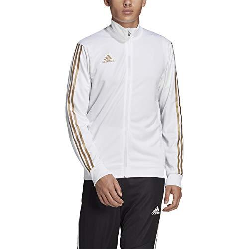 adidas Men's Soccer Tiro Track Jacket White/Gold Metallic Medium