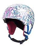 Roxy Slush-Snowboard/Esquí Casco, Niñas, Bright White Leopold, L/XL