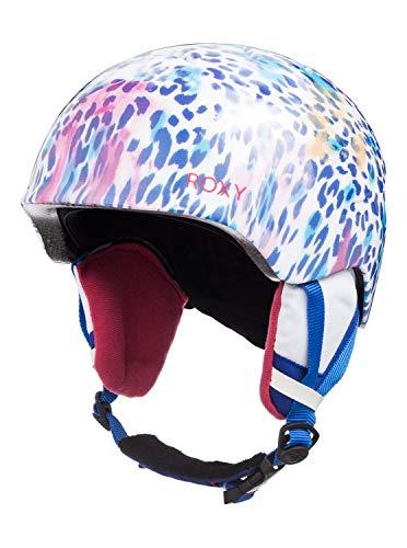 Roxy Mädchen Slush-Snowboard-/Skihelm 8-16, Bright White Leopold, S/M