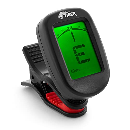 Tiger Guitar Tuner, Chromatic Clip-On tuner for Electric, Acoustic, Bass...