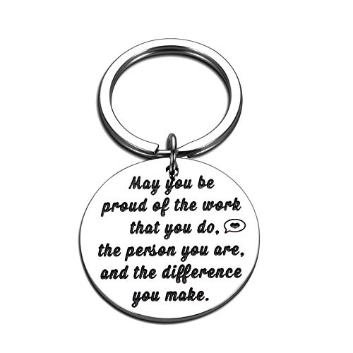 Colleagues Leaving Keychain Gifts for Best Friends Coworkers Farewell Retirement Goodbye Going Away Thank You Appreciation Gifts for Boss Leaders Mentors Christmas Birthday Thanksgiving Day Gifts