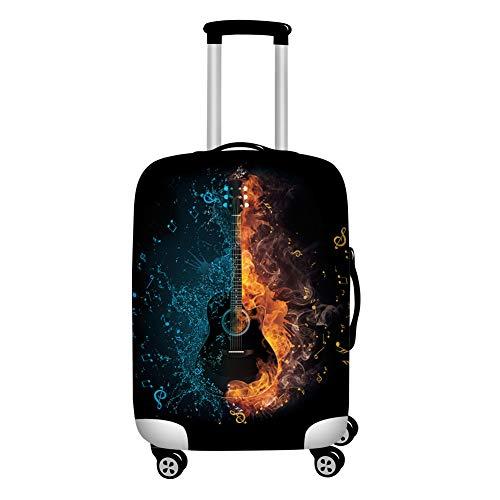 Agroupdream Dicker Gepäck Schutzabdeckung 45,7-81,3 cm Trolley Reisetasche Abdeckung elastischer Schutz Koffer, Gitarre (Schwarz) - Agroupdream