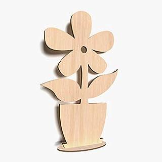 x10 wood cutouts crafts blank shape WOODEN FLOWER 12 PETAL Shapes 10cm